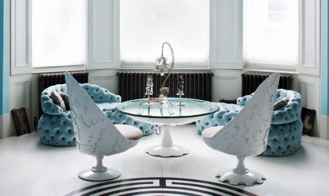 "The Apartment Of Designer Danielle Moudaber | The entire place is inspired on the theme ""under the sea"". #interiordesign #oceandecor #londonhouse #londondesign"