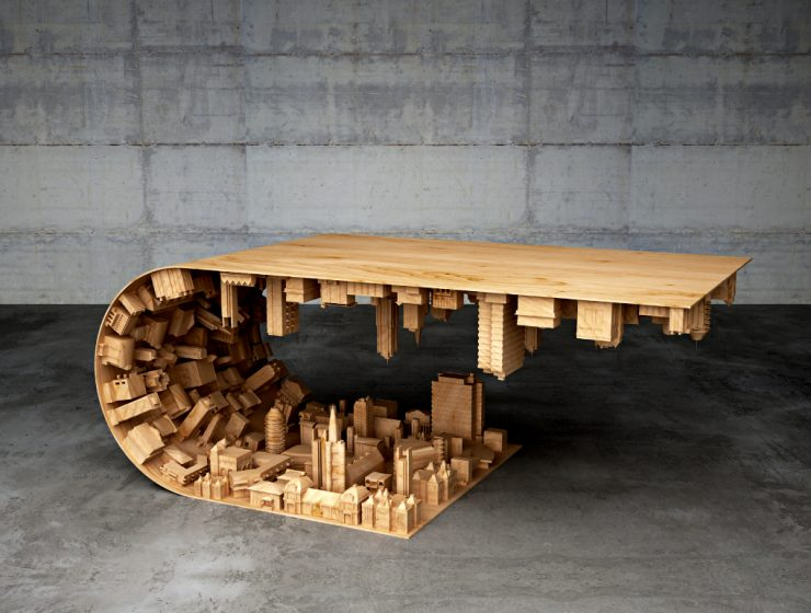 Discover a Cityspace Inside a Coffe Table | This coffee table was inspired by an incredible well-known movie, starring Leonardo DiCaprio as the principal actor, called Inception. #coffeetable #centertables #livingroomdesign coffe table Discover a Cityspace Inside a Coffe Table Featured 2 740x560