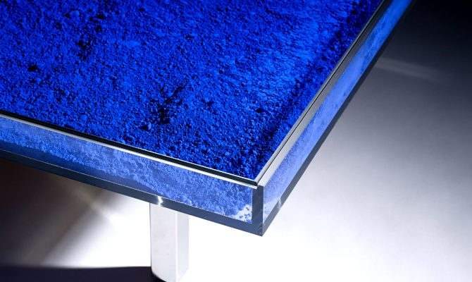Yves Klein Creates an Outstanding Coffee Table Design | Yves Klein was the most influential, prominent, and controversial French artist to emerge in the 1950s. #coffeetable #centertable #interiordesign #homedecoration