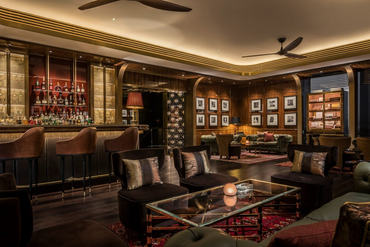 Adam Tihany Project of Hotel in Dubai | It is located in a convertedformer apartment block in the Dubai International Financial Centre. #hoteldesign #hospitalitydesign #interiordesign #homedecor #decoration #centertables