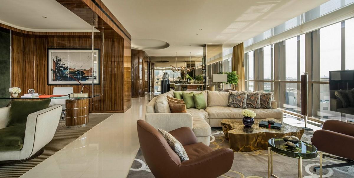 Adam Tihany Project of Four Seasons Hotel in Dubai | It is located in a convertedformer apartment block in the Dubai International Financial Centre. #hoteldesign #hospitalitydesign #interiordesign #homedecor #decoration #centertables