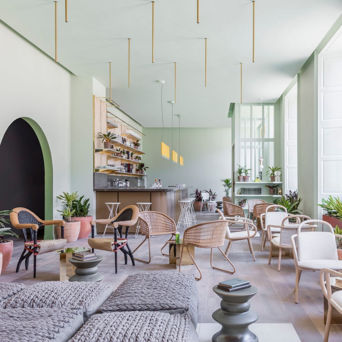 Top 10 Best Hotels of 2017: A Dezeen Selection | Thinking about next years vacation? We show you some awesome locations. #tophotels #hoteldesign #besthotels #luxuryhotels #traveldestinations #centertables best hotels Top 10 Best Hotels of 2017: A Dezeen Selection eden locke hotel grzywinski pons interiors hotels london uk dezeen sq a 1 1704x1704