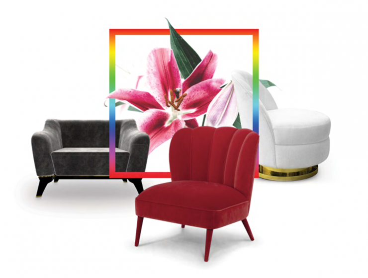 Top 10 Trends According To Pantone's 2018 Spring Color Trends | According to this prediction, and with inspirations of the global authority on color, Pantone, Center Tables Blog is proud to announce some exquisite and opulent furniture, inspired by these trends, which are already predicted to be a success! #interiordesign #homedecor #decoration #colortrends #pantonecolors Spring Color Trends Top 10 Trends According To Pantone's 2018 Spring Color Trends MONTAGEM 1 740x560
