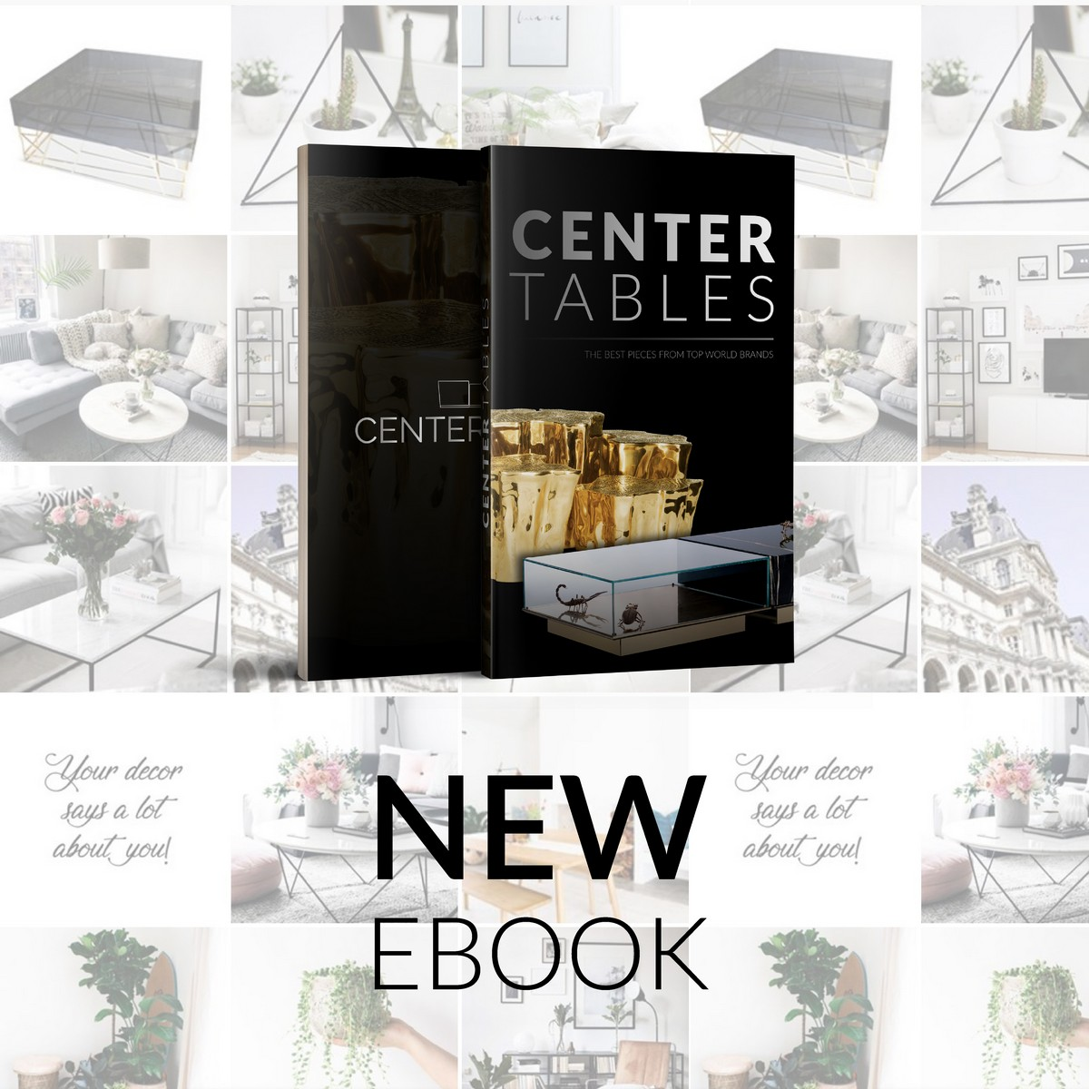 FREE EBOOK: The Best Center Tables Inspirations For Your Home Decor | This pieces come in a wide range of sizes, styles, materials, colors and even function, and sometimes it gets hard to decide which one will look better in our living room next to our furniture. #centertables #homeinteriors #centertablesblog #homedecor #interiordesign Center Tables Inspirations FREE EBOOK: The Best Center Tables Inspirations For Your Home Decor BANNER BLOG 03