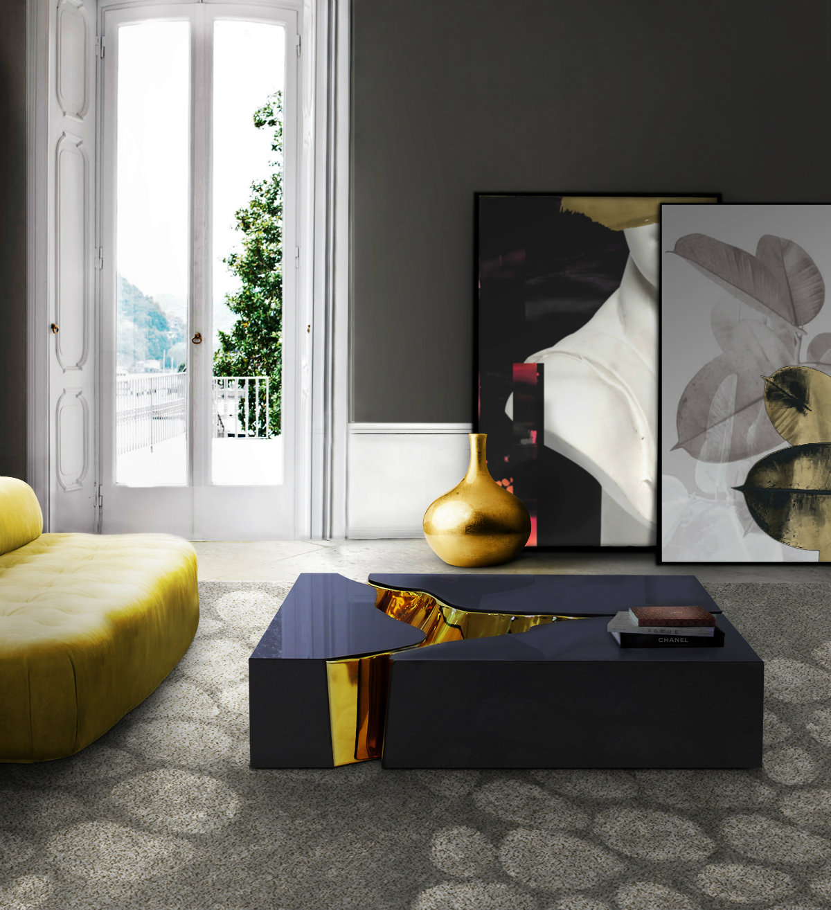 Limited Luxury Center Tables Bespoke Design: 7 Limited Luxury Center Tables lapiaz black