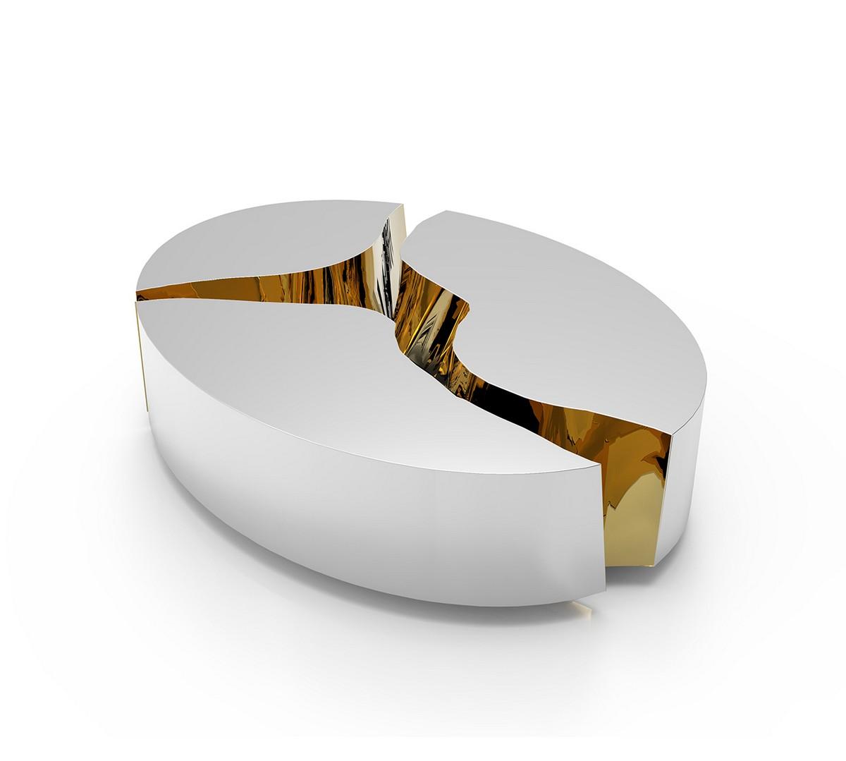 boca do lobo, living room, center table, luxury piece, unique, interior design, gold, richness, ambiances, glamorous, excellence, details, home decor, bold